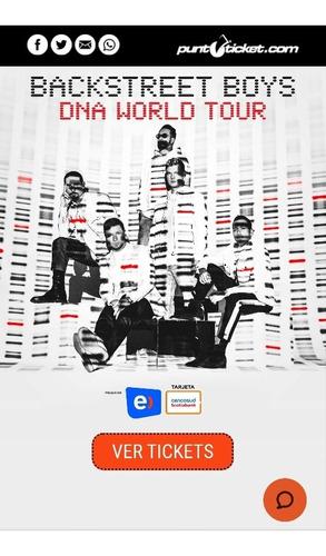 entrada vip top concierto backstreet boys 5 de marzo