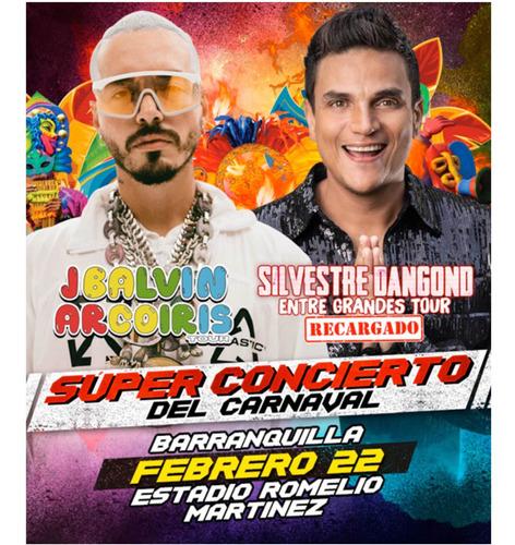 entradas a palcos concierto carnaval febrero 22 /2020