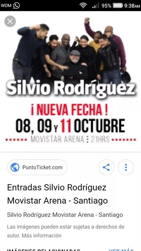 entradas a silvio rodriguez hoy jueves 11 octubre !!