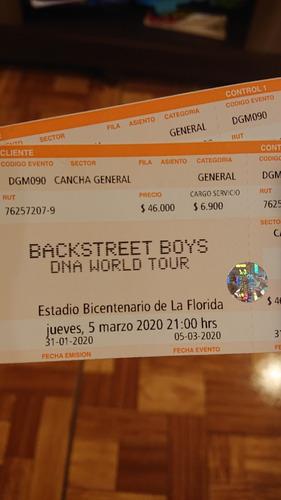 entradas back street boys 5 de marzo