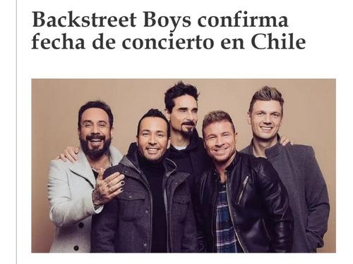 entradas backstreet boys 4 marzo (cancha)