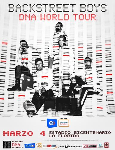 entradas backstreet boys 4 marzo chile cancha  (rematando)