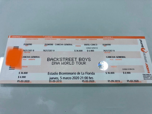 entradas backstreet boys 5 de marzo