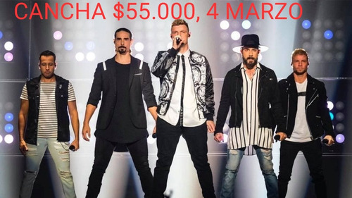 entradas backstreet boys cancha 4 marzo 44 en efectivo