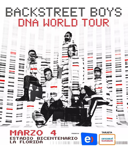 entradas backstreet boys - dna world tour - andes