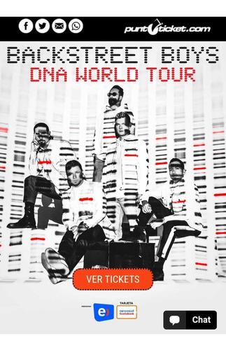 entradas backstreet boys en chile 2020
