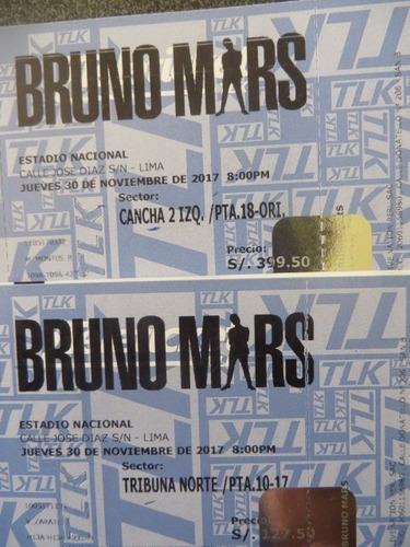 entradas bruno mars - cancha 2 stand up