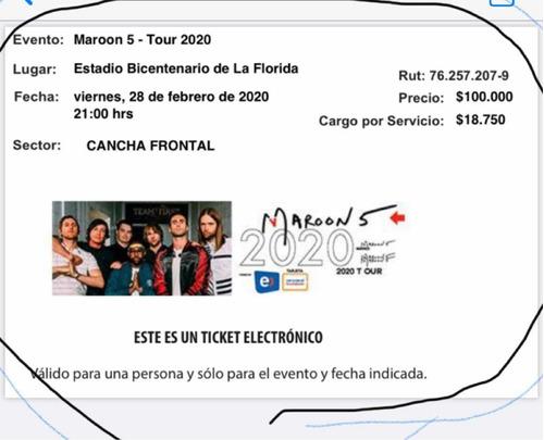 entradas concierto maroon 5