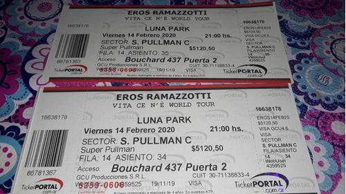 entradas eros ramazzoti viernes 14 feb.luna park