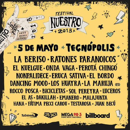 entradas festival nuestro (5/5) - 30% de descuento