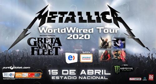 entradas galeria metallica estadio nacional 15 de abril