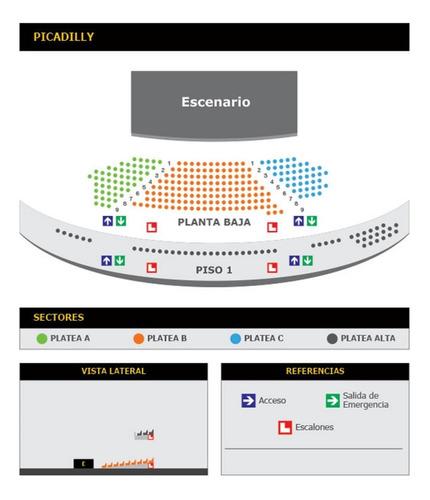entradas jackita- teatro picadilly - fila 4 y platea alta