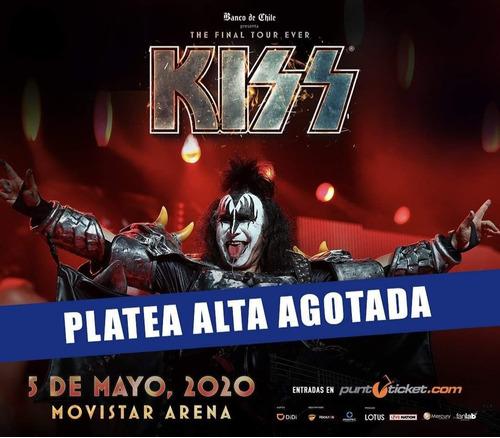 entradas kiss - end of the road world tour - platea alta