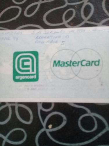 entradas originales argentina 0 colombia 5 5/9/93 -