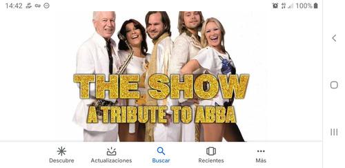 entradas para abba the show 6/9 20,30 fila 1 platino