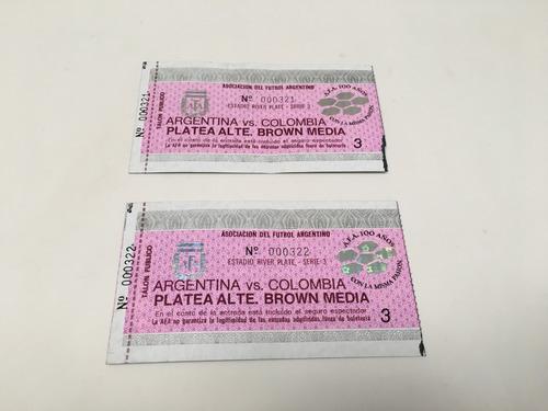 entradas partido argentina / colombia eliminatorias 1993