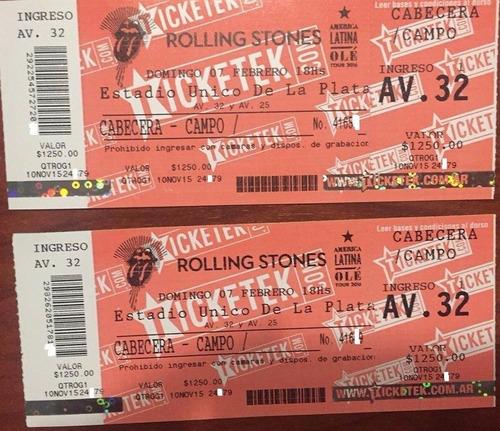 entradas show rolling stone la plata 2016
