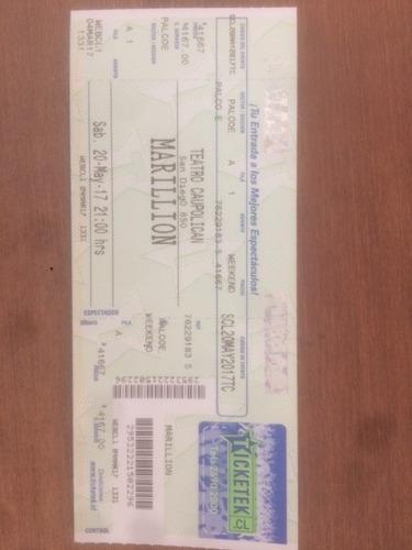 entradas ubicación palco concierto marillion 20/5