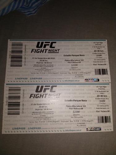 entradas ufc argentina 17 noviembre estadio parque roca