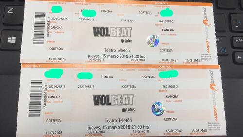 entradas volbeat 2x 35.000