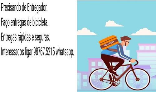 entregador de bicicleta.