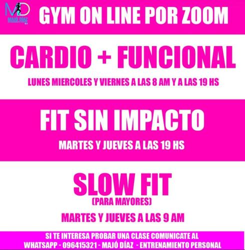 entrenamiento - gimnasia por zoom
