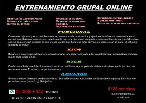 entrenamiento grupal online