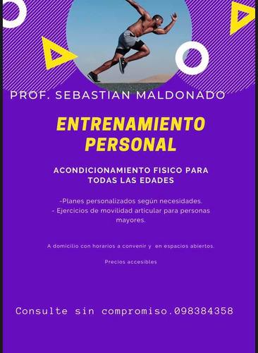 entrenamientos personalizados para todas las edades !
