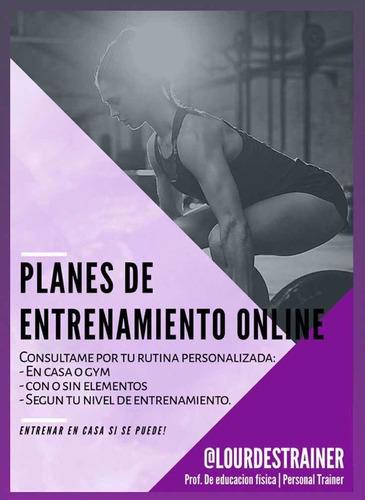entrenamientos personalizados y rutinas online