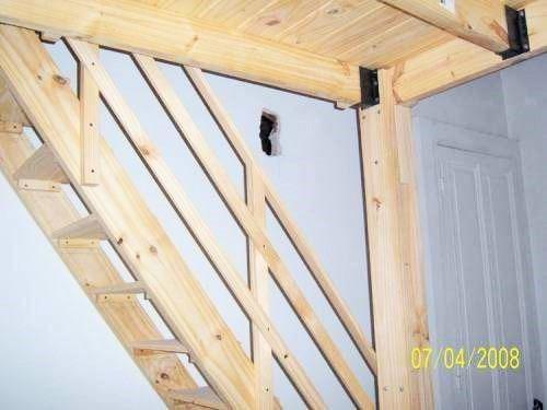 Como hacer una escalera de madera escalera con zancas anchas pesquer hacer bao bajo bajo - Como hacer una escalera de madera para entrepiso ...