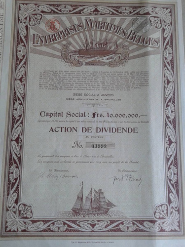 entreprises maritimes belges - 1919.