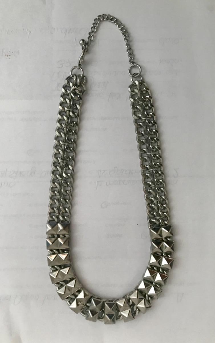 5e5d01428f1a env barato  collar gargantilla color plata de bisutería fina. Cargando zoom.