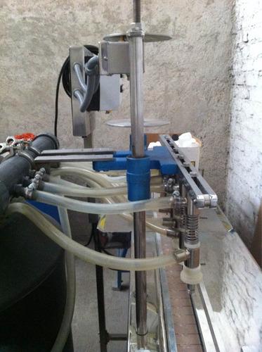 envasadora- llenadora de líquidos espumosos semi viscosos