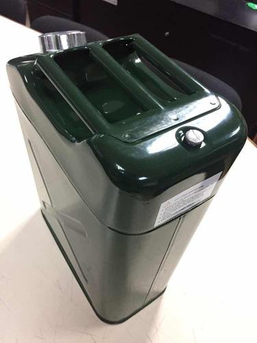 envase bidón para gasolina metal galvanizado verde 20 litros