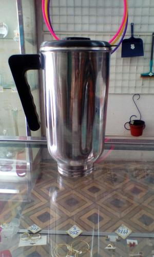envase de licuadora aluminio con tapa