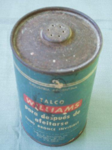 envase de talco antiguo marca williams