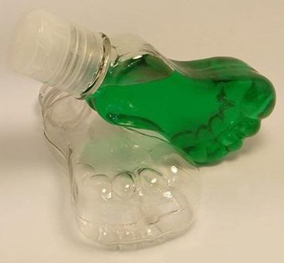 envase golosinero piecitos tapa plástica color - souvenir
