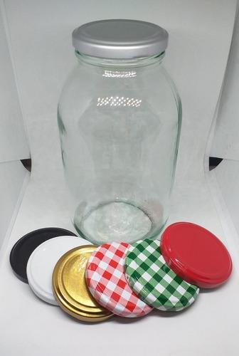 envase mayonesa 1000cc vidrio (tarro de kilo para alimentos)