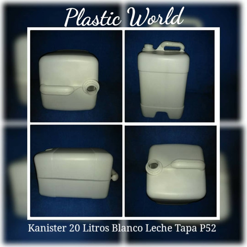 envase plástico carboya bidon 60 litros virgen tapa y retapa