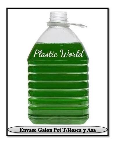 envase plástico de 5 litros pet con tapa y asa 5000 cc ml