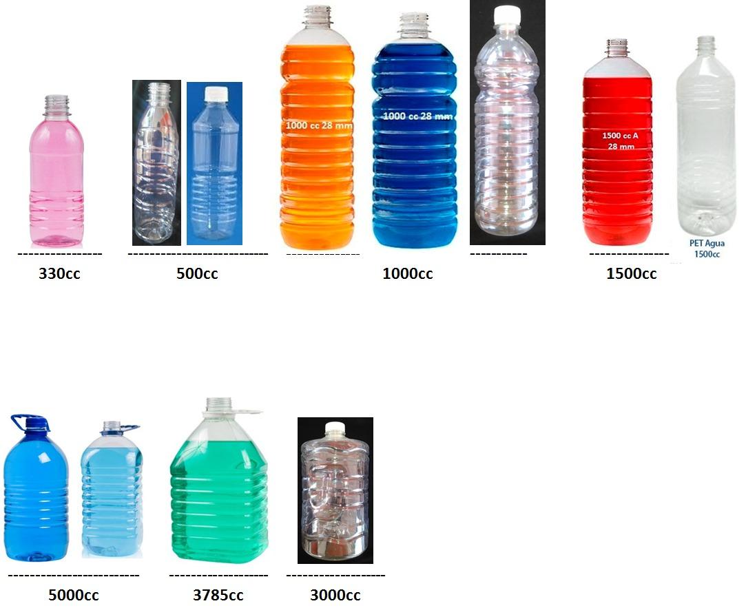 Envase plastico litro pet 1000cc galones bidones for Precio litro cloro liquido