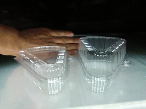 envase plastico triangular alto y bajo tortero