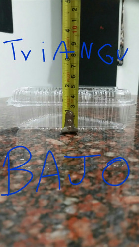 envase plástico triangulares desechables tortas frascos