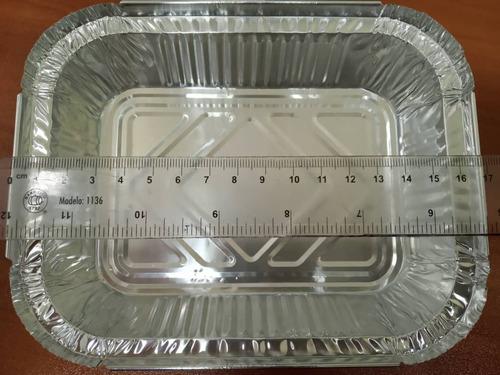 envases desechables de aluminio 17*13,5*3,3cm (paq.125 unid)