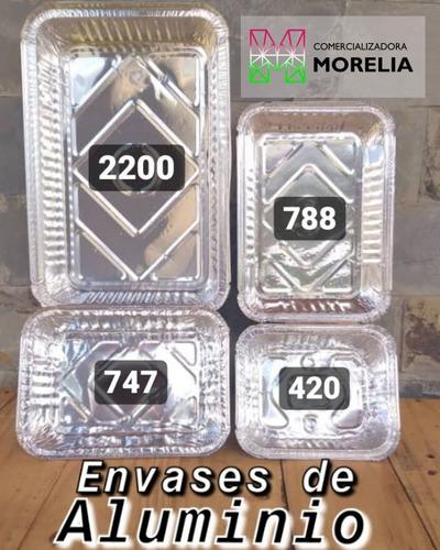 envases desechables de aluminio.