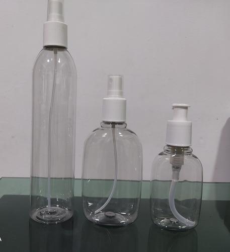 envases pet ovalado y cilíndrico. push-spray/ gel crema
