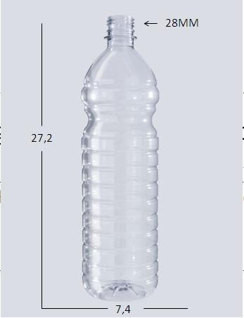 envases plástico botella en  pet de 1 litro envase, pote