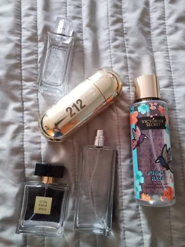 envases vacíos de perfumes