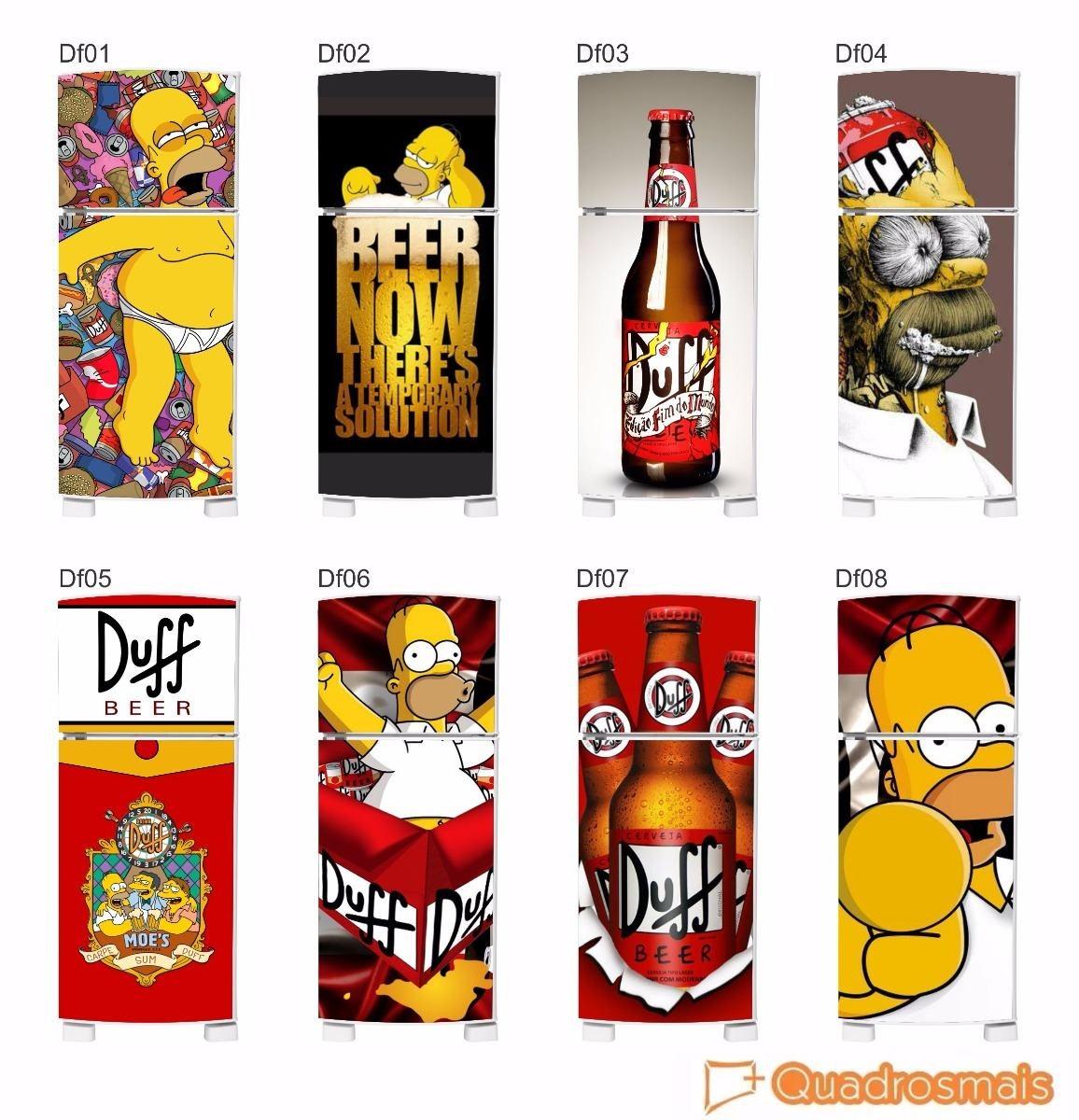 Vender Artesanato Nos Estados Unidos ~ Envelopamento Frigobar Duff Homer Simpsons Adesivo Decor