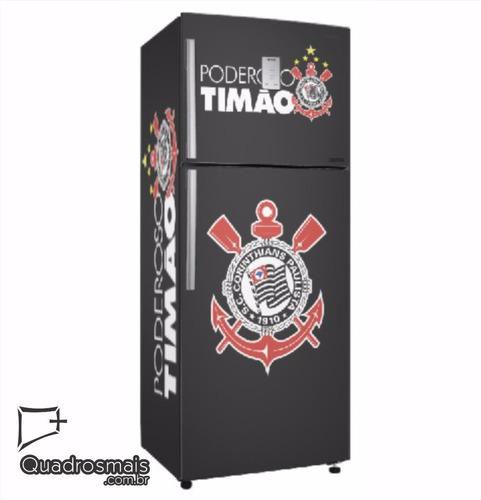 Artesãos Sinonimo ~ Envelopamento Geladeira Corinthians Tim u00e3o Adesivo Brasileiro R$ 187,00 em Mercado Livre